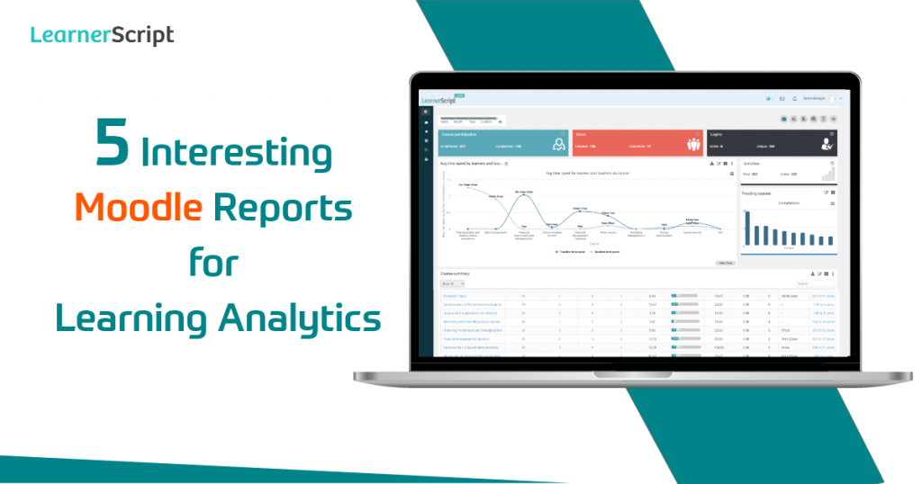 5 Interesting Moodle Reports for Learning Analytics
